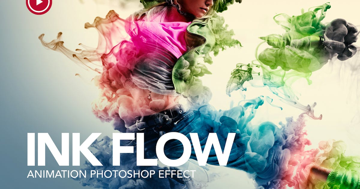 Download Ink Flow Animation Photoshop Action by sreda
