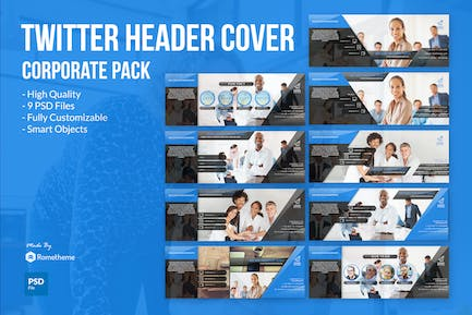 Corporate Twitter Headers Cover vol.1 YR