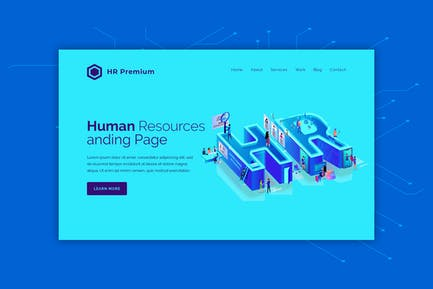 HR Premium - Hero Banner Landing Page Template