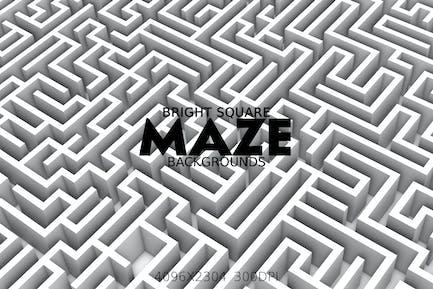 Helle quadratische Labyrinth-Hintergründe