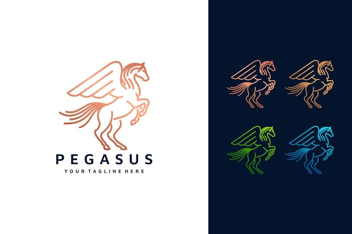 Thumbnail for Pegasus LineArt Logo Template