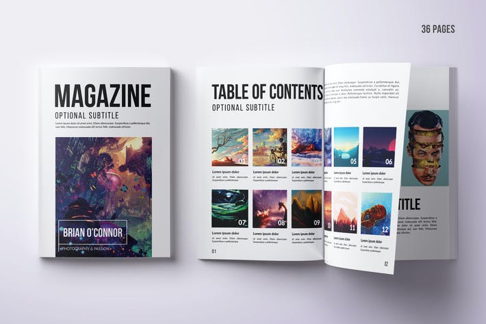 Thumbnail for Magazine A4 multifonction 36 pages - PSD & Indd