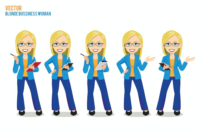 Thumbnail for Blonde bussiness woman Vector Character