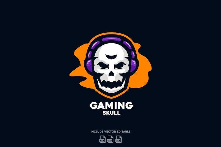Thumbnail for Gaming Skull Logo Design