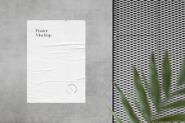 Thumbnail for Glued Poster Mockup