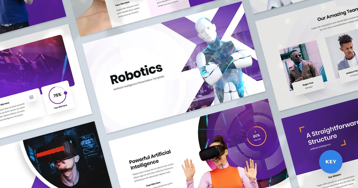 Download Tech & Artificial Intelligence Keynote Template by Krafted