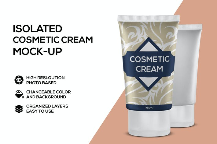 Thumbnail for Kosmetische Creme Mockup