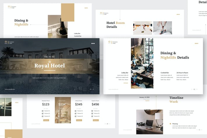 Cover Image For Hotel Keynote Presentation Template