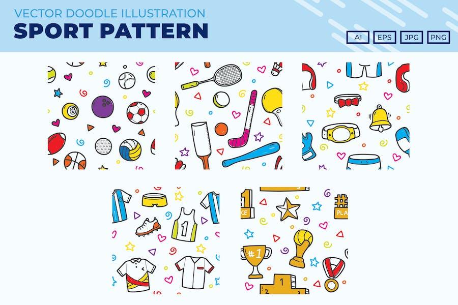 Sport icon pattern