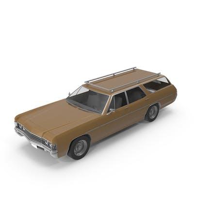 Винтажный автомобиль Коричневый