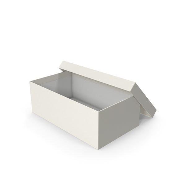 Caja de zapatos abierta