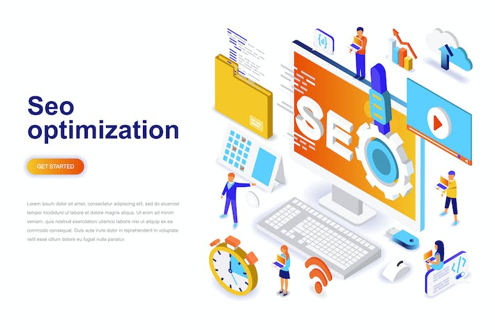 Thumbnail for Seo Optimization Isometric Concept