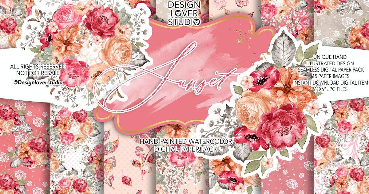 Download Sunset digital paper pack by designloverstudio