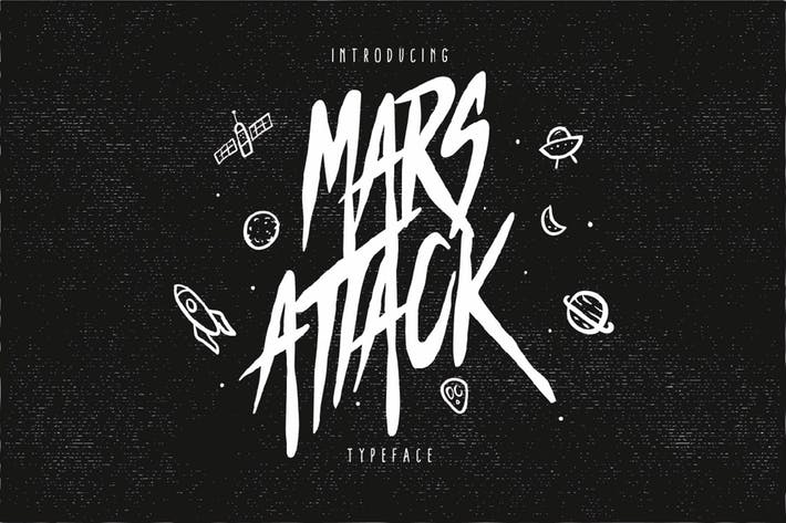 Thumbnail for Mars Attack Typeface