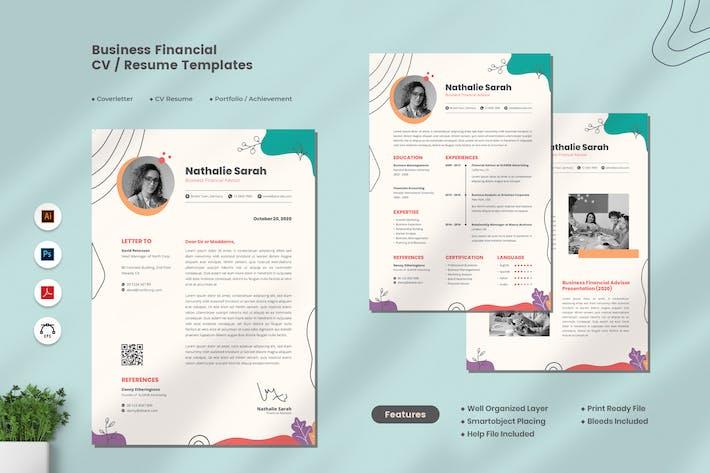 Thumbnail for Business Financial CV Resume