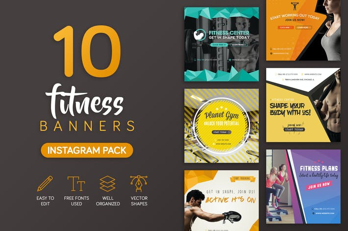 Thumbnail for Fitness Banners