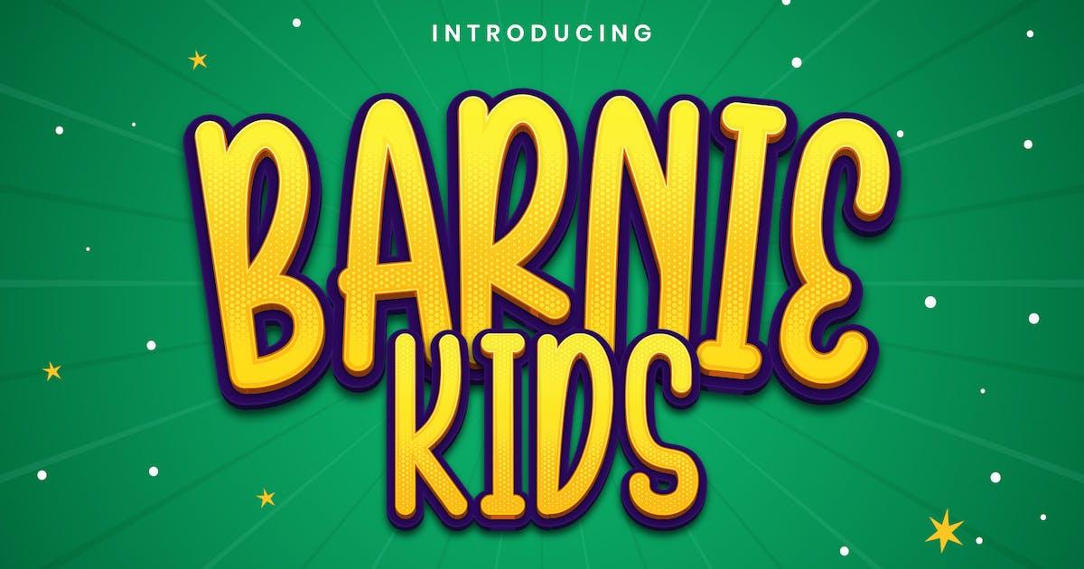 Download Barnie Kids - Playful Display Font by StringLabs