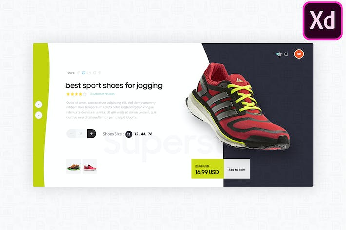 Thumbnail for Modern Product Page Exploration in Adobe XD