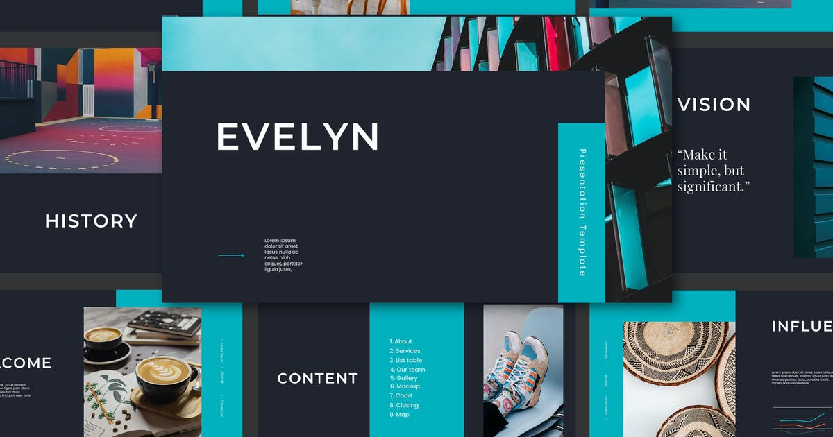 Download Evelyn Powerpoint Template by axelartstudio