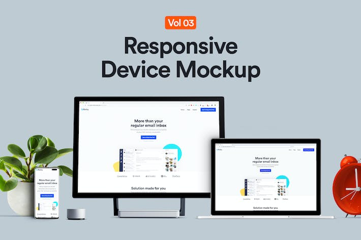 Thumbnail for Dispositivo receptivo Mockup 03