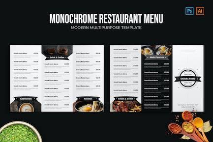 Monochrome - Restaurant Menu