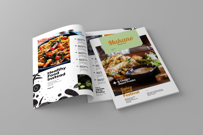 Cover Image For Makano - Magazine Template