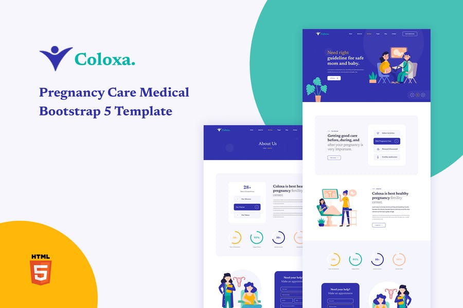 Coloxa - Pregnancy Care Medical Bootstrap 5 Templa