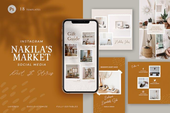 Thumbnail for Marketing Influencer Market - Instagram Pack