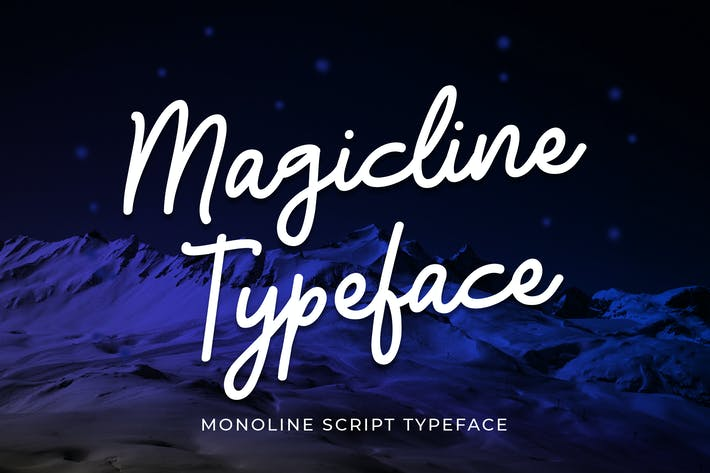Thumbnail for Magicline Typeface