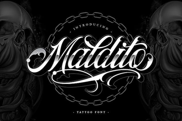 Maldito Font   Tattoo Style