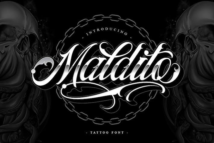 Thumbnail for Maldito Font | Estilo Del Tatuaje