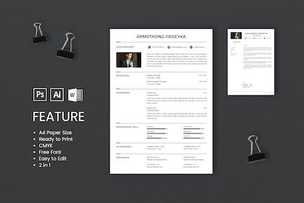 Professional CV And Resume Template Fadeyka