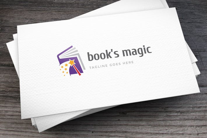 Thumbnail for Books Magic Logo Template