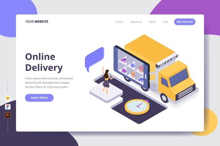 Thumbnail for Online Delivery - Landing Page
