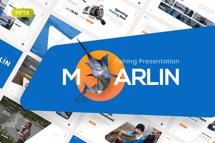 Марлин Рыбалка Презентация PowerPoint Шаблон
