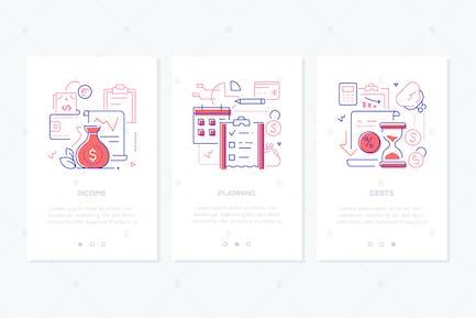 Budget - Line-Design-Stil Webbanner