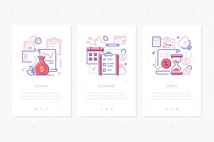 Budget - line design style web banners
