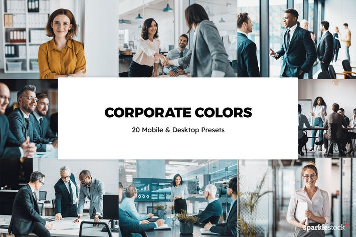 Thumbnail for 20 Corporate Colors Lightroom Presets & LUTs