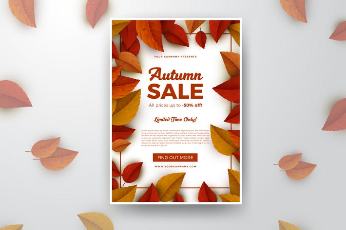 Thumbnail for Autumn Sale Print Flyer