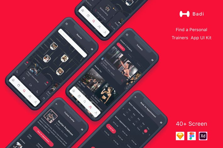 Thumbnail for Badi - Find a Personal Trainers App UI Kit