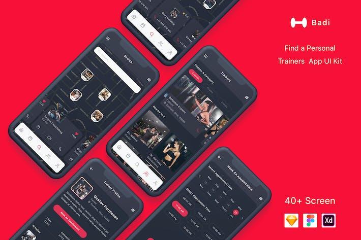 Thumbnail for Badi - Найти личный набор для тренеров Приложение UI Kit