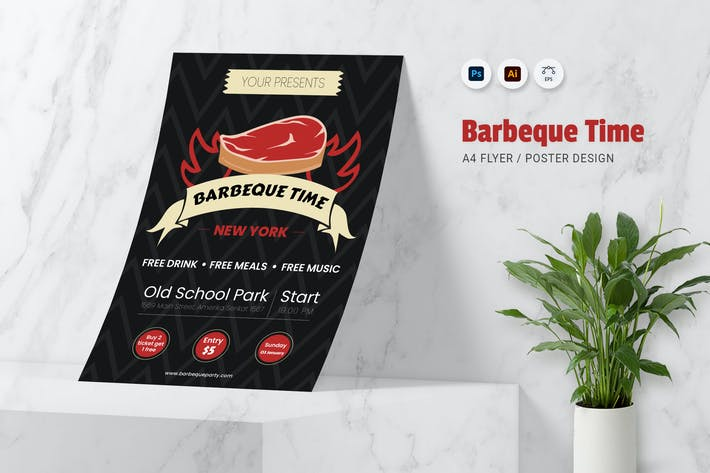 Thumbnail for Barbeque Time Flyer