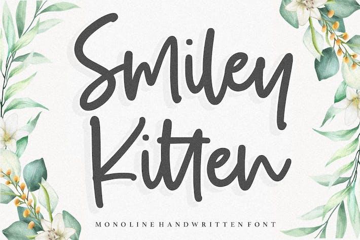 Thumbnail for Smiley Kitten YH - Monoline Handwriting Font