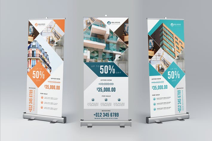 Thumbnail for Real Estate Roll Up Banner Promotion