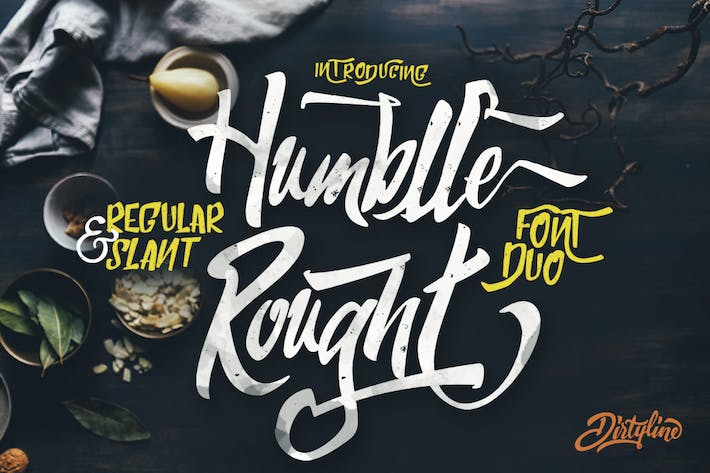 Thumbnail for Humblle Rought - Font Duo logotype