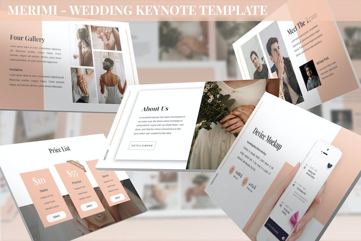 Thumbnail for Merimi - Wedding Keynote Template