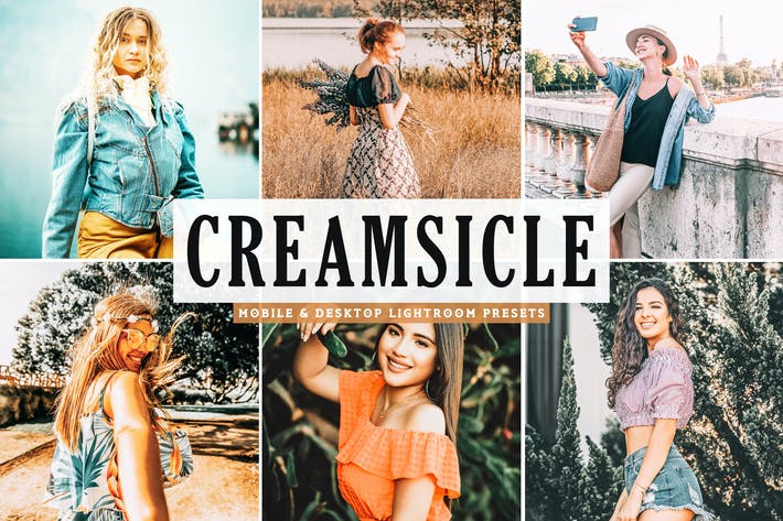 Thumbnail for Creamsicle Mobile & Desktop Lightroom Presets