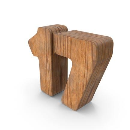 17 Wooden Number