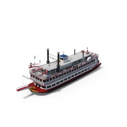 Barco de vapor con ruedas