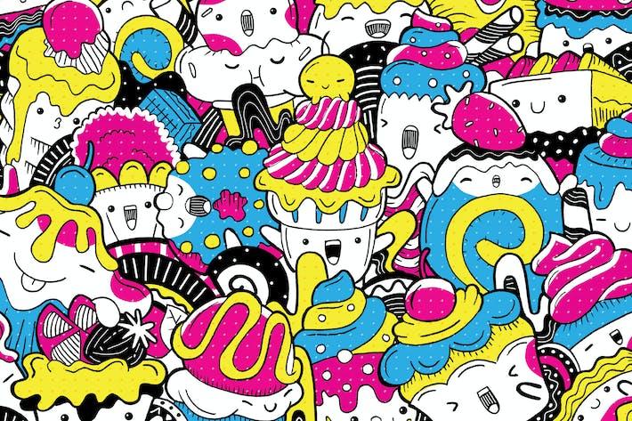 Thumbnail for Dessert sucré avec caractère mignon
